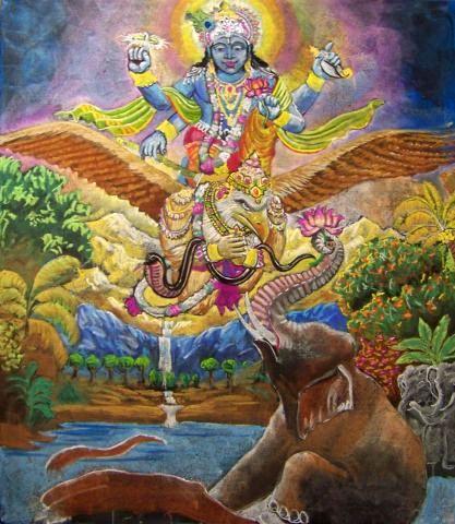 5e klas geschiedenis India Vishnu 3
