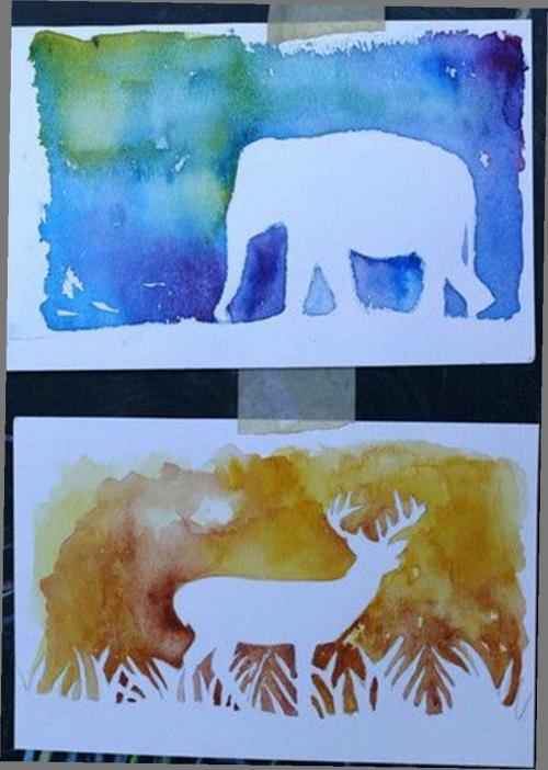 7e klas schilderen