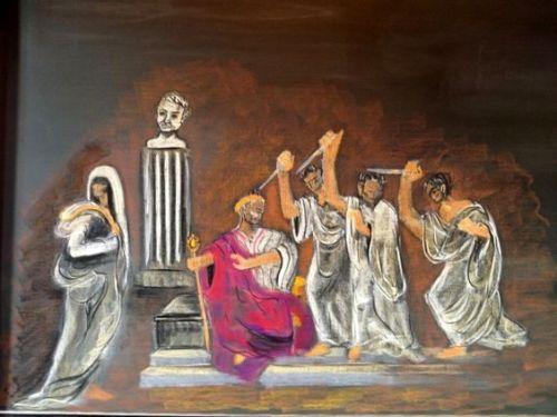 6e klas gesch Julius Caesar moord