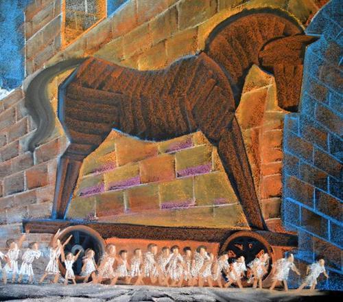 6e klas gesch paard van Troje 1