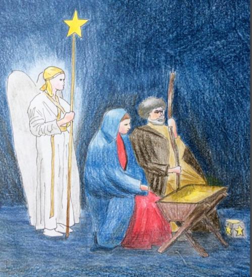kerstspelen engel Jozef en maria